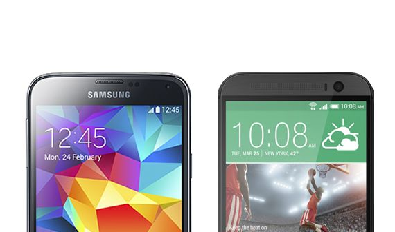 HTC, HTC M8, The All New HTC One, Samsung, Samsung Galaxy S5, Galaxy S5, Samsung S5
