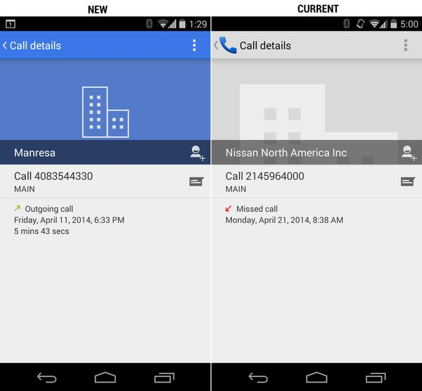 Google, Android, Dialer