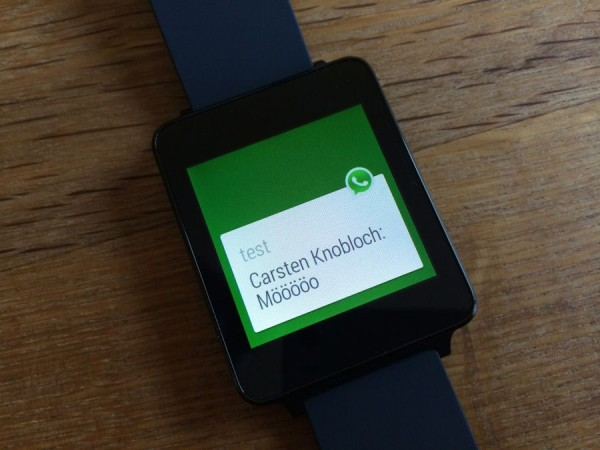 WhatsApp, Android Wear