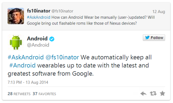 Android Wear, Google