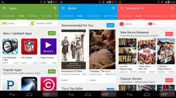 Google Play Store, Android L