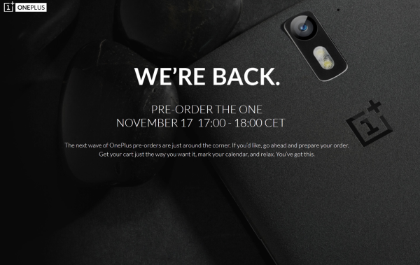OnePlus One Vorbestellung 17. November 2014