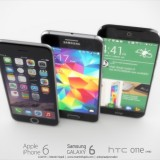 Samsung Galaxy S6 vs. HTC One M9 Render vs. iPhone 6