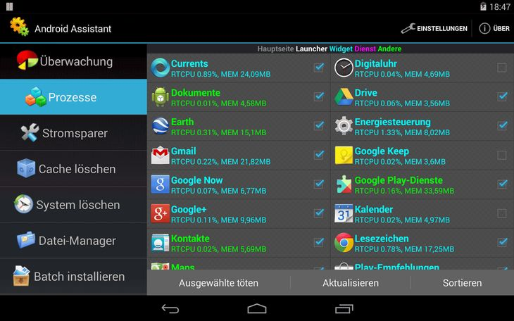Assistant for Android Screenshot