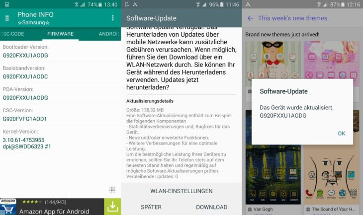 Samsung Galaxy S6 Update