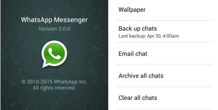 WhatsApp 3.0 Screenshot