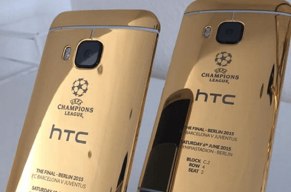 HTC One M9 Gold Champions League