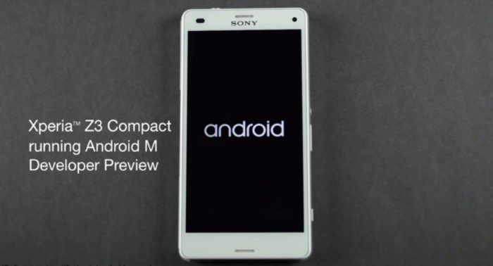 Sony Android M Preview