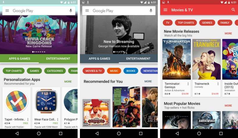 Google Play Store 6.0 neues Design