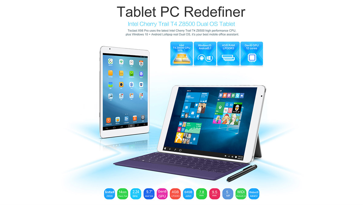 Teclast X98 Pro Android und Windows Tablet