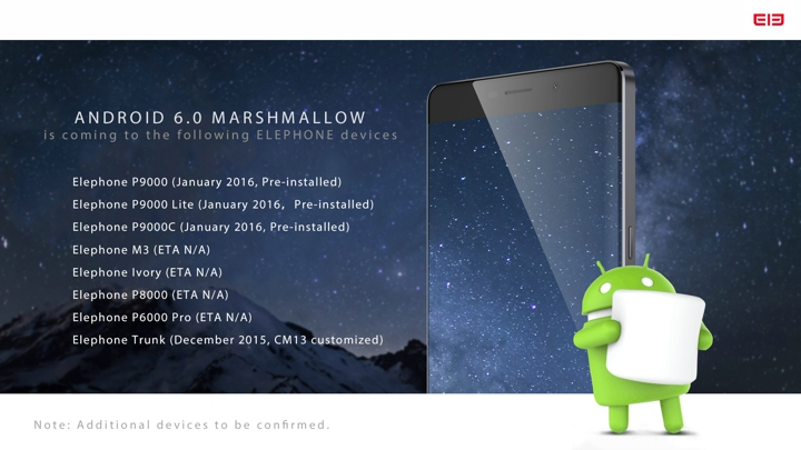Elephone Android 6.0 Marshmallow Update