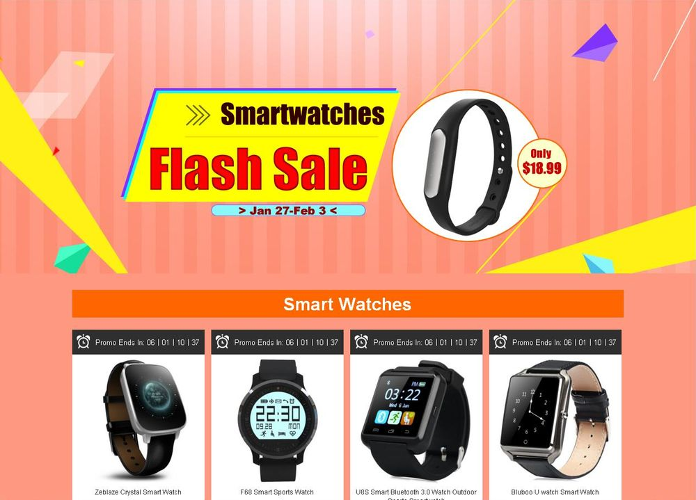 Smartwatch-Promo-Aktion