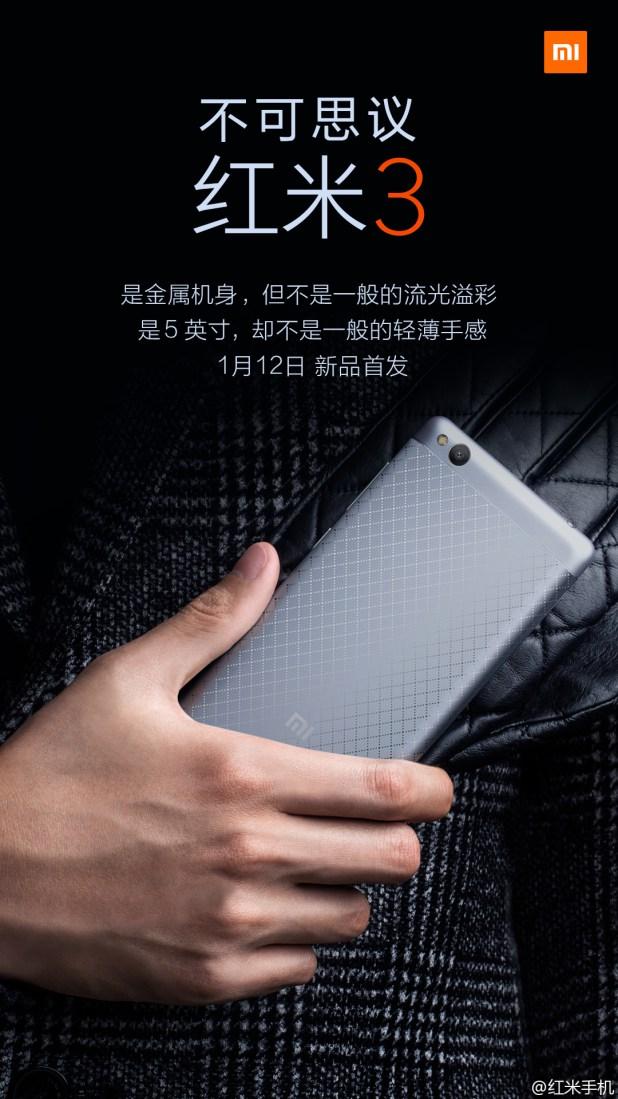 Xiaomi Redmi 3 Android Smartphone