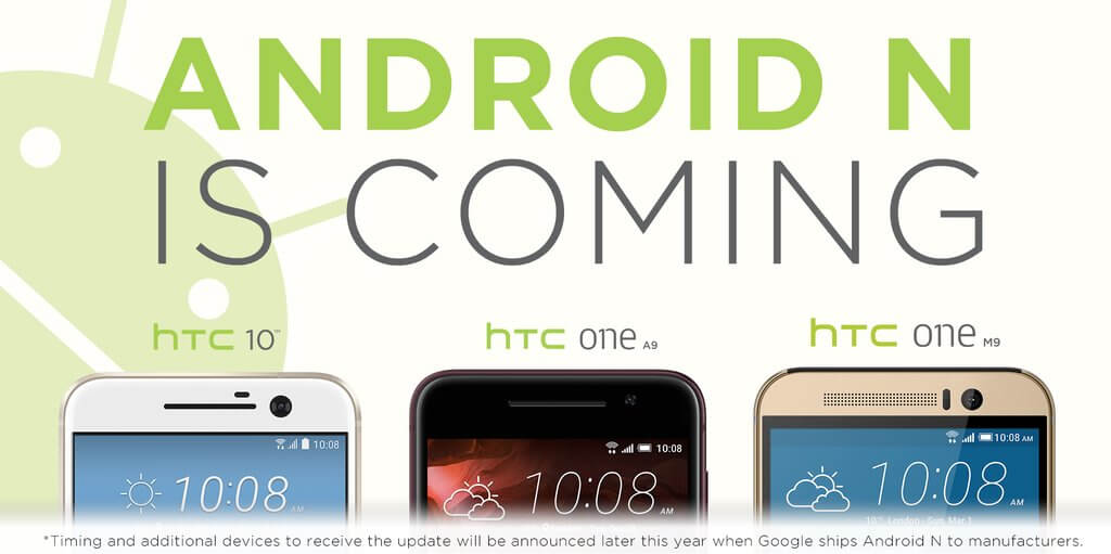 HTC Android N Update