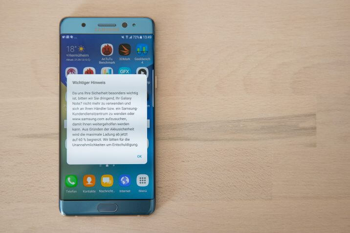Samsung Galaxy Note 7 Android Smartphones