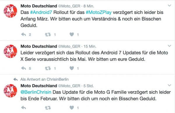 Moto Android 7.0 Nougat Update