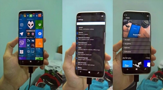 Samsung Galaxy S8 Windows 10 Mobile Smartphone