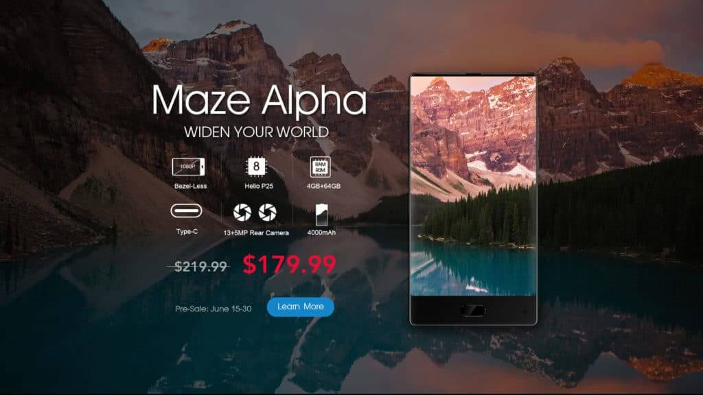 Maze Alpha Android Smartphone