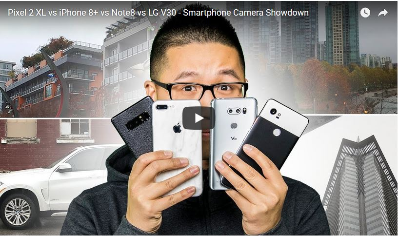 Google Pixel 2, LG V30, Samsung Galaxy Note 8 Android Smartphone