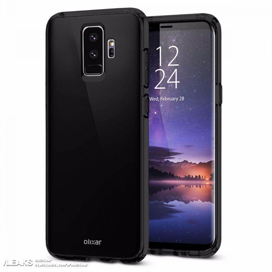 samsung galaxy s9 und galaxy s9 cases geleakt android. Black Bedroom Furniture Sets. Home Design Ideas