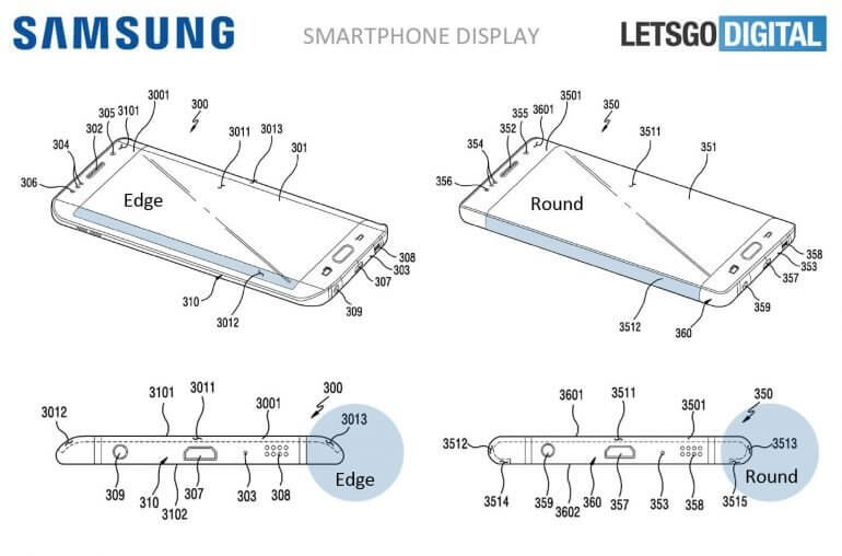Samsung Patent rundes Display