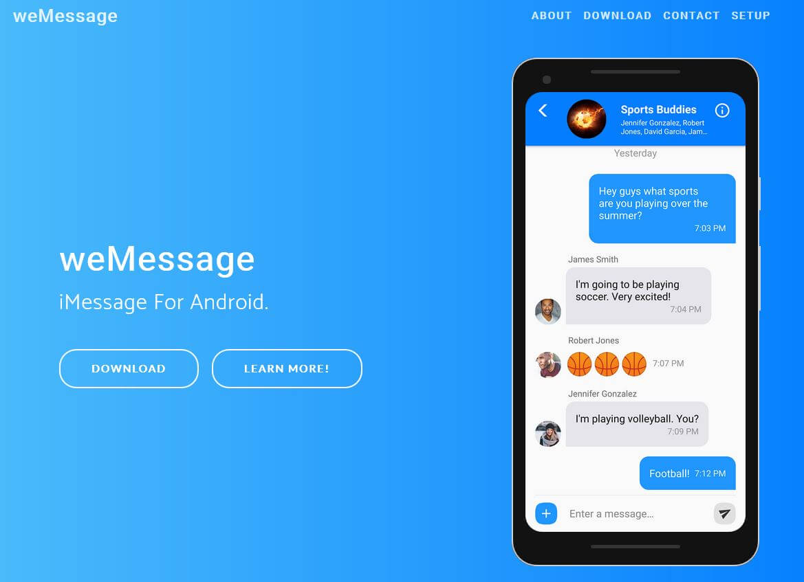 weMessage Android App