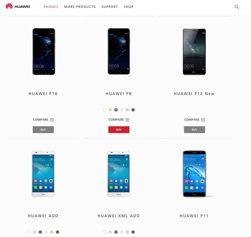 Huawei P11 und Huawei P12 Android Smartphone