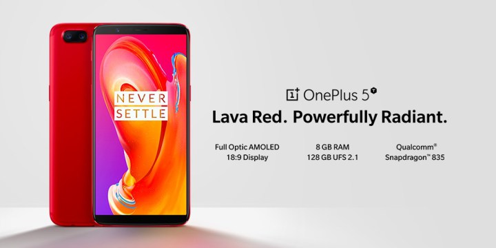 OnePlus 5T Lava Red Android Smartphone