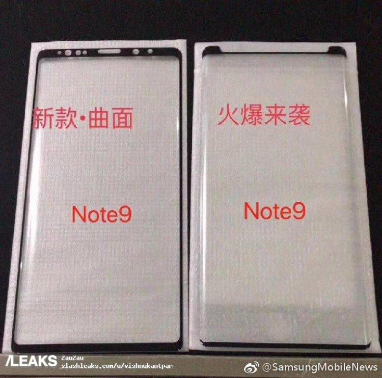 Samsung Galaxy Note 9 Displayschutz