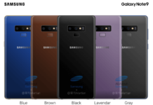 Samsung Galaxy Note 9 Farben