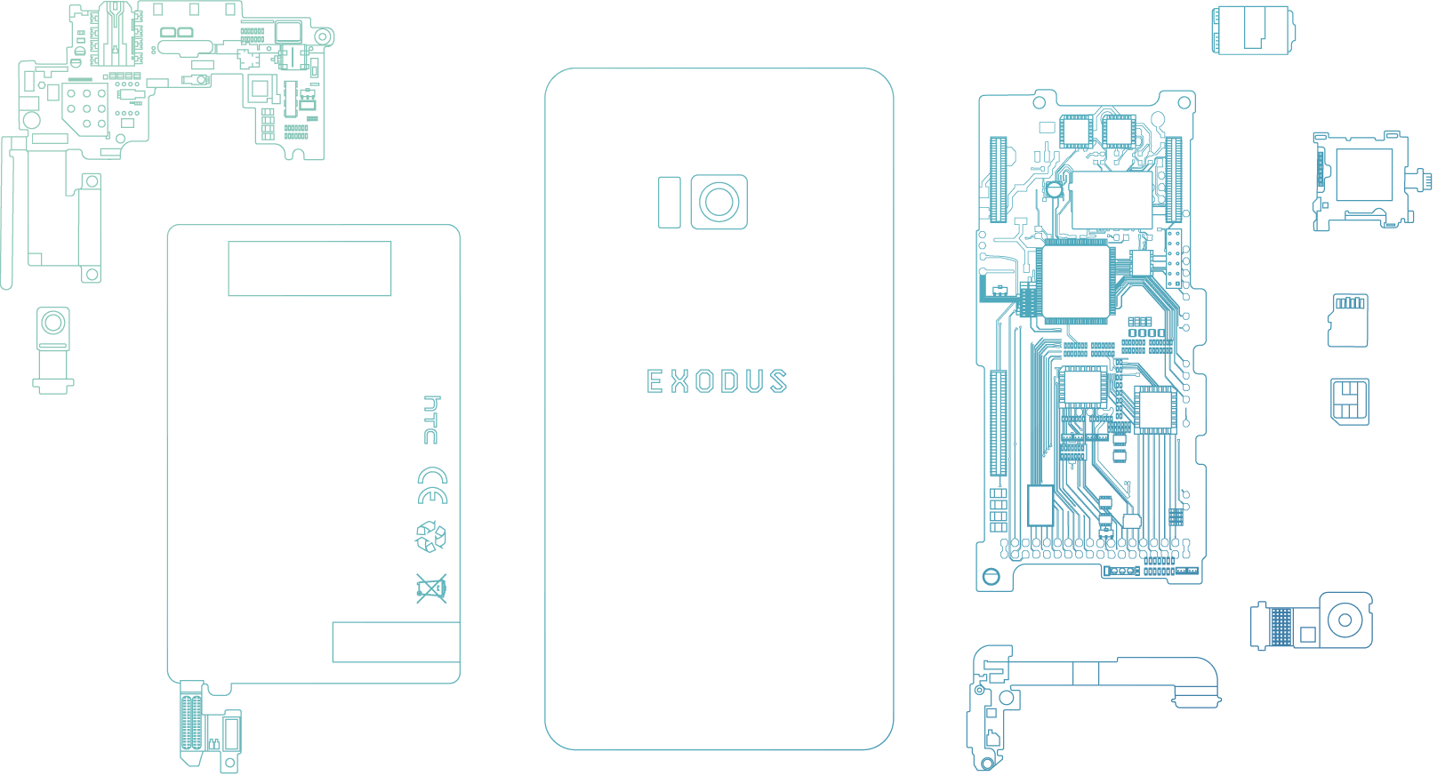 HTC Exodus Components