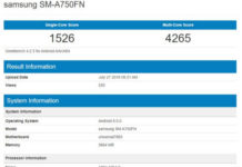 Samsung Galaxy A7 2018 Geekbench