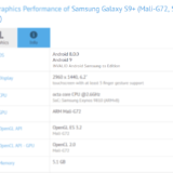 Samsung Galaxy S9+ Android 9.0 Pie GFXBench