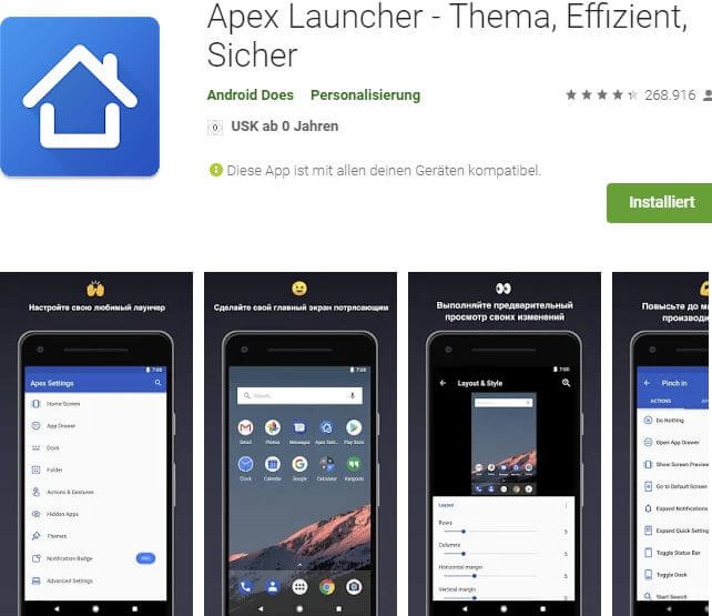 Apex Launcher Pro Screenshots