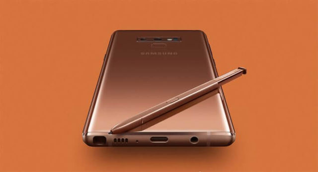 Samsung Galaxy Note 9 Metallic Copper