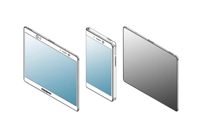 Oppo faltbares Smartphone Patent