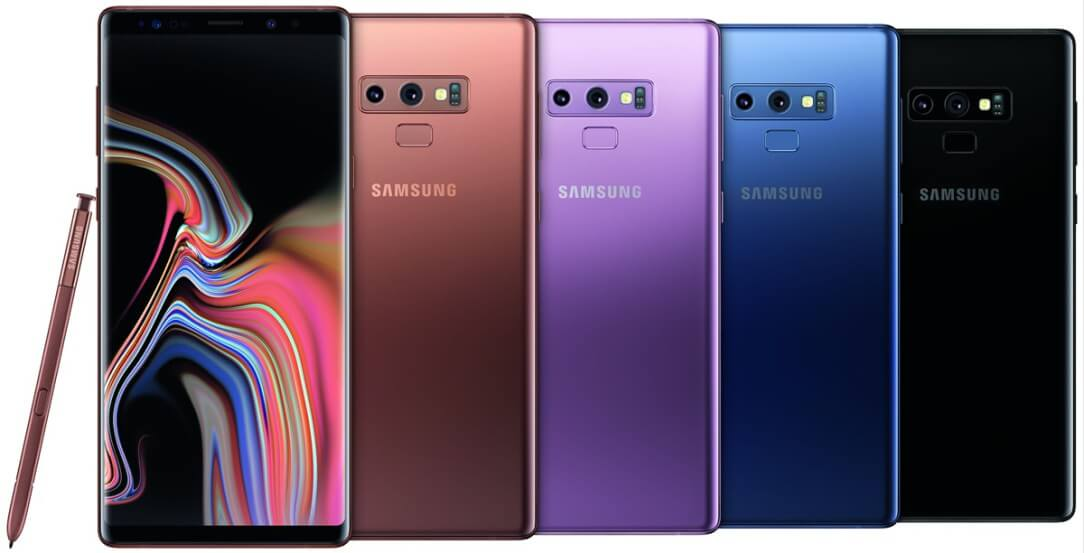 Samsung Galax Note 9 Colors