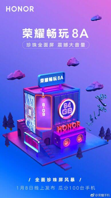 Honor 8A Teaser