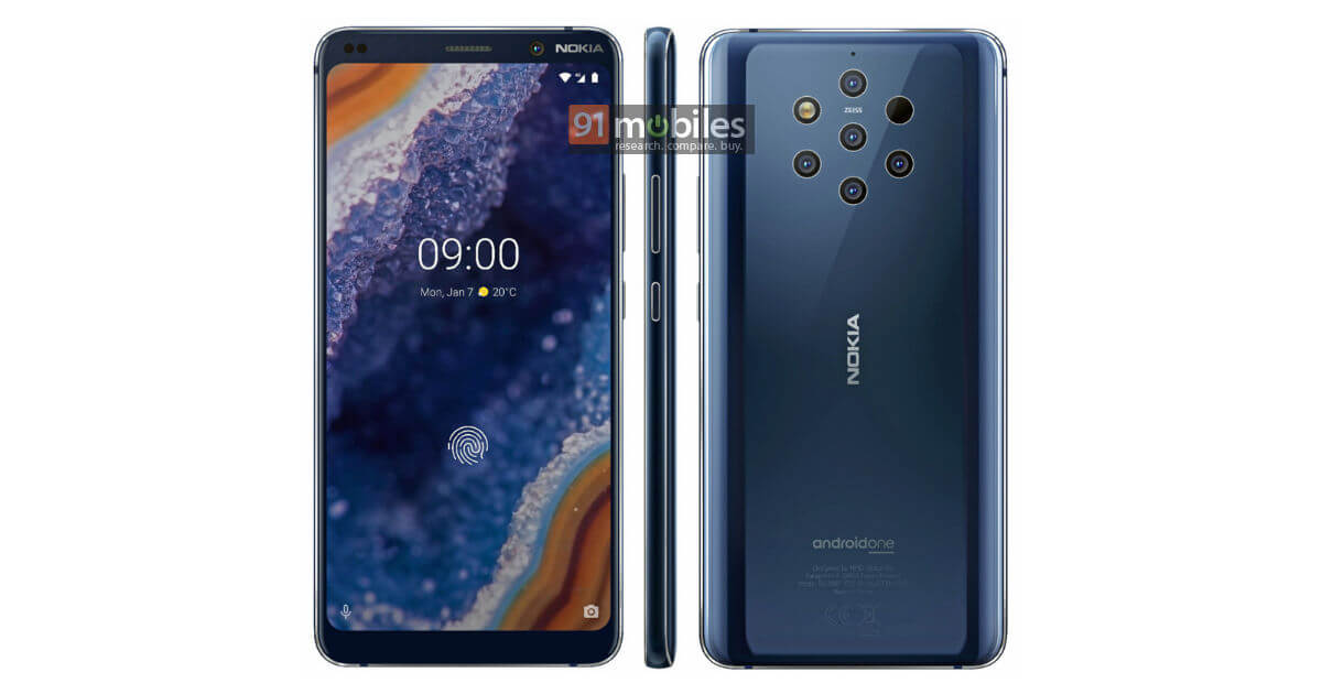 Nokia 9 PureView Render