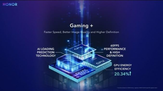 Honor View 20 Gaming+ Mode