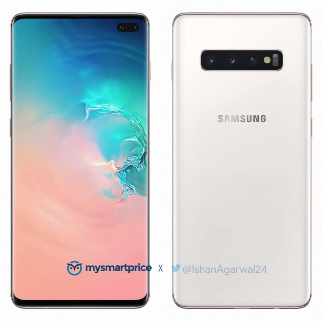 Samsung Galaxy S10+ Luxurious Ceramic White Pressebild