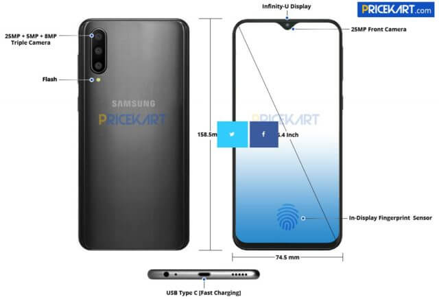 Samsung Galaxy A50 Leak