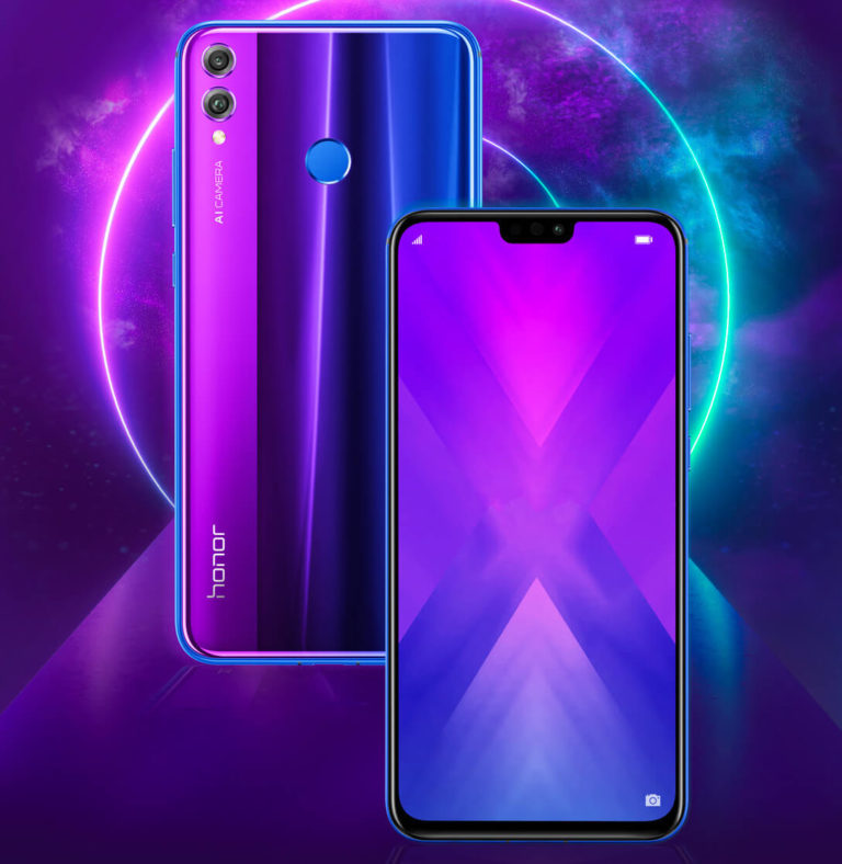 Honor 8X Phantom Blue Pressebild