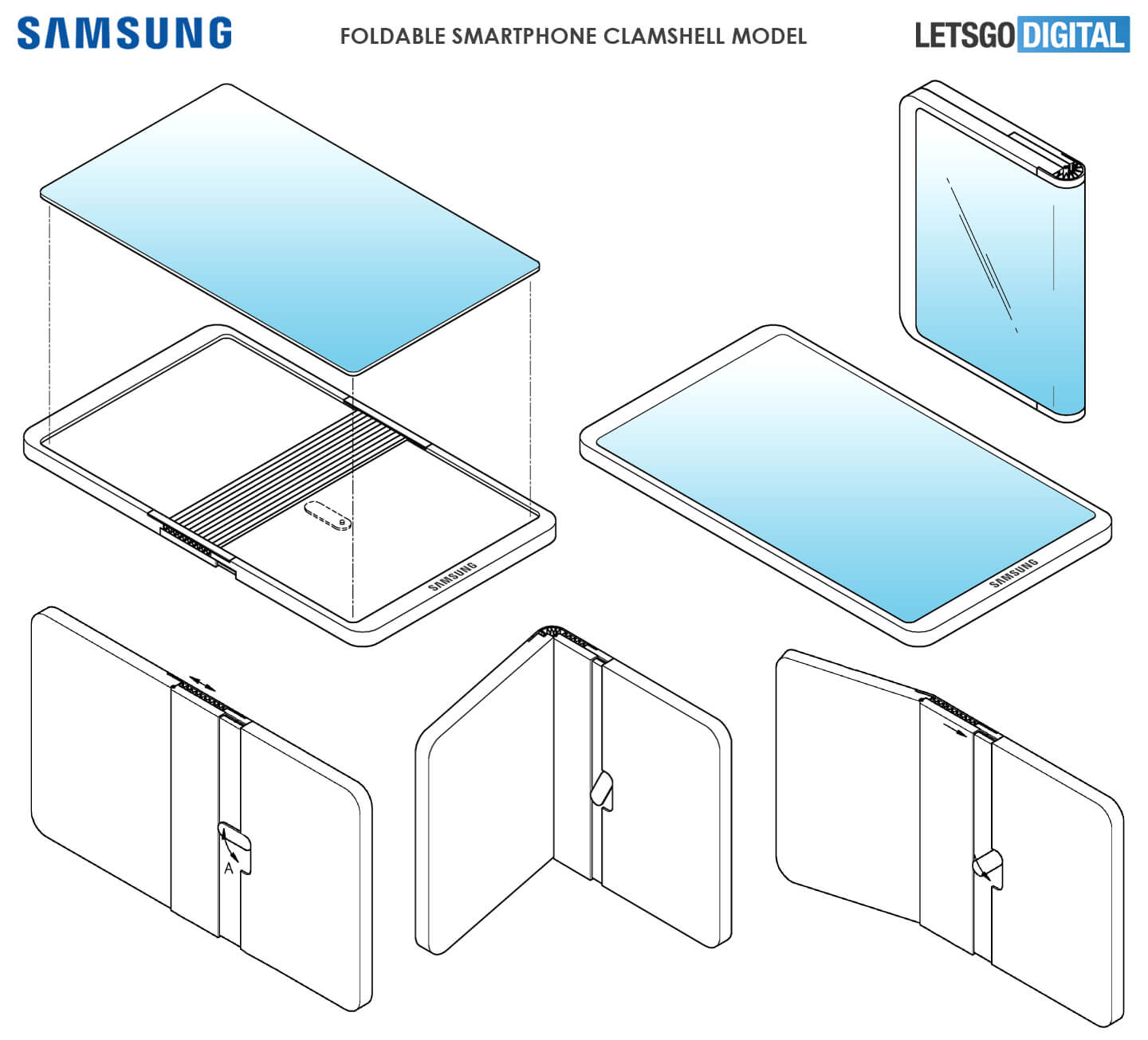Samsung faltbares Smartphone-Patent