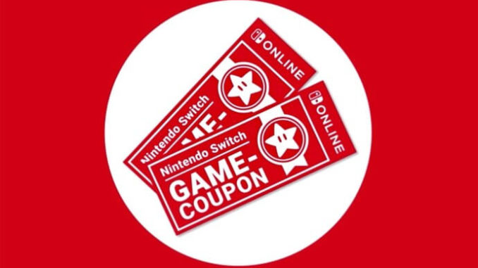 Nintendo Switch Online Game Coupons