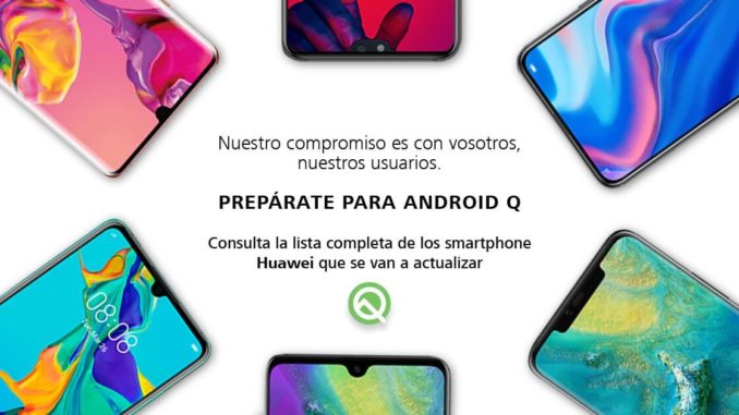 Huawei 6 weitere Smartphones Android Q Update