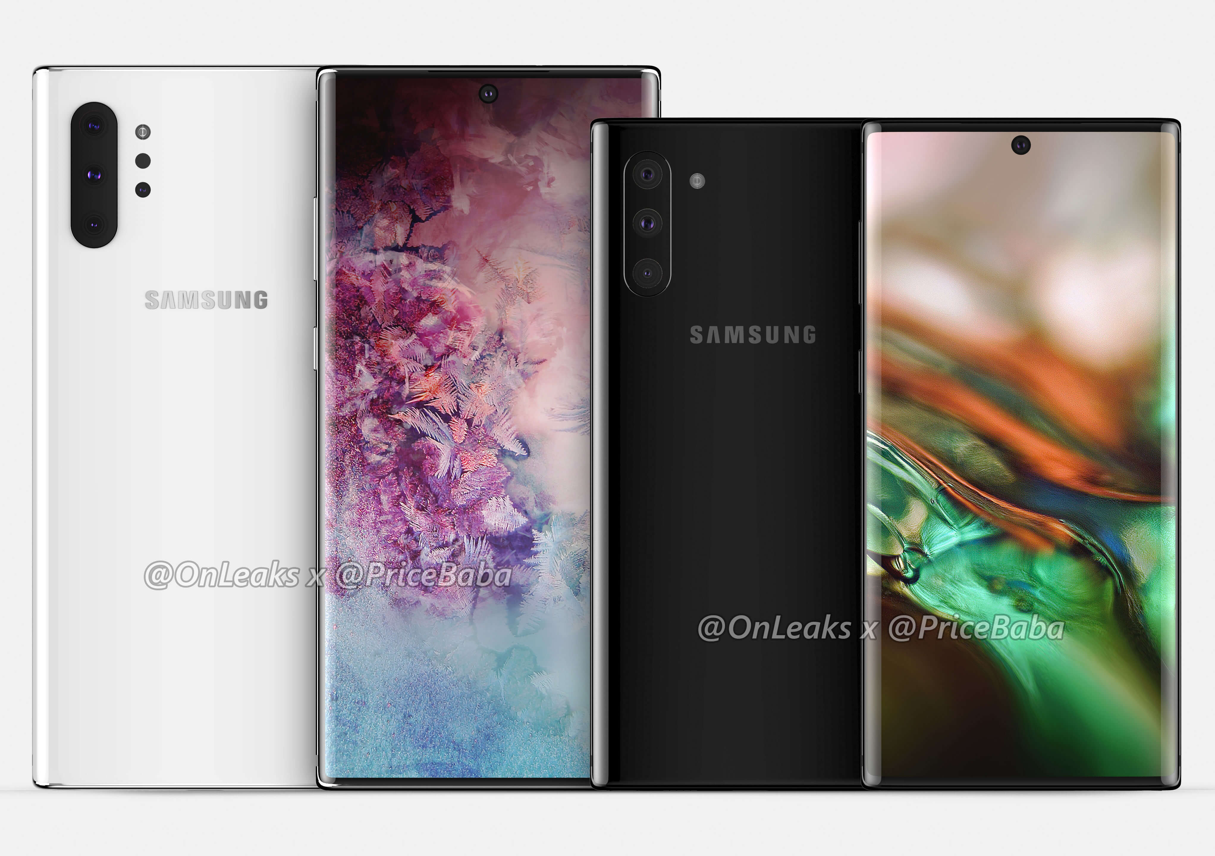 Samsung Galaxy Note 10 vs Galaxy Note 10 Pro Render