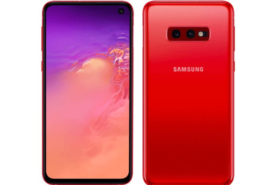 "Samsung Galaxy S10e ""Cardinal Red"""
