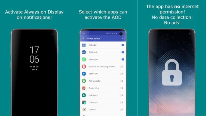 aodNotify - Always On Display on Notifications