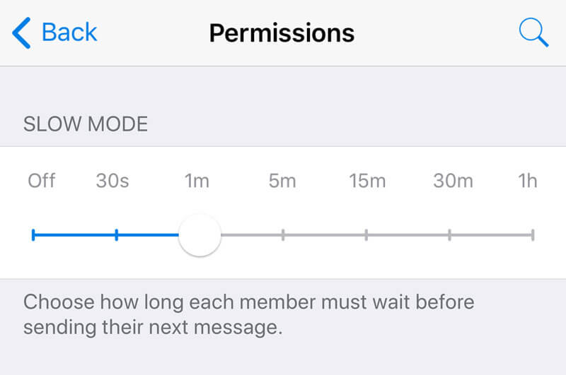 Telegram Slow-Mode